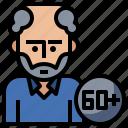 avatar, face, man, old, people, profile