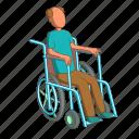 human, man, people, wheelchair icon