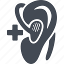 an ear, apparatus, disabled, hearing aid icon