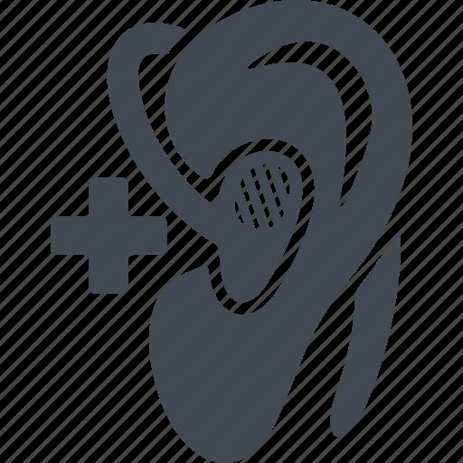 an ear, apparatus, disabled, hearing aid icon