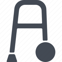 disability, disable, disabled, walker icon