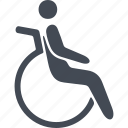 disabled, disabled people, movement, wheelchair icon