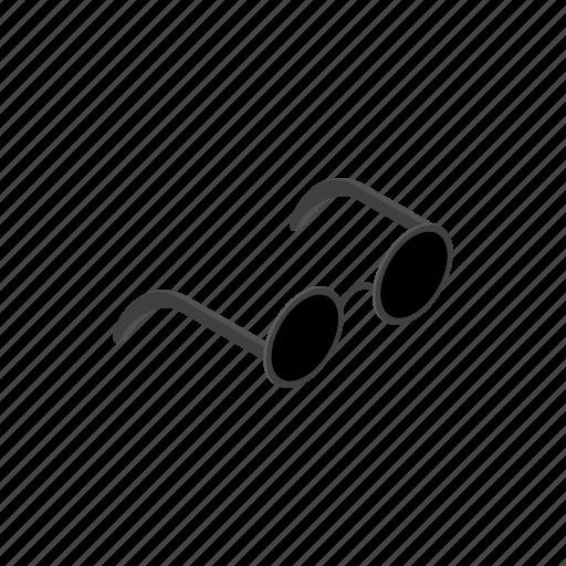 blind, eye, glass, isometric, lens, plastic, sunglasses icon