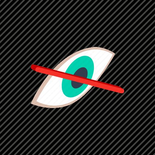 blind, eye, human, isometric, optical, sight, vision icon