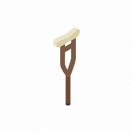 aid, crutch, equipment, isometric, medical, support, tool icon