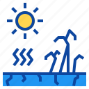 disaster, drought, global, nature, warming icon