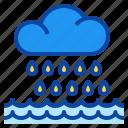 disaster, nature, rain, rainstorm, thunderstorm icon