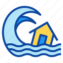 disaster, flood, nature, tsunami, wave icon