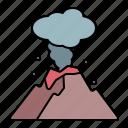 volcano, eruption, mountain, disaster