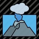 volcano, eruption, sea, disaster