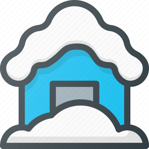 catastrophe, disaster, massive, snowfall, weather icon