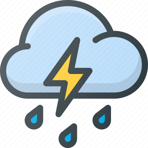 catastrophe, disaster, thunderstorm, weather icon