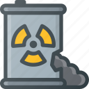 catastrophe, disaster, leak, toxic, waste icon