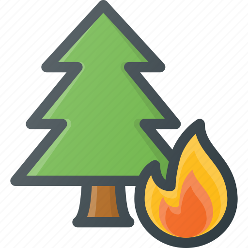 catastrophe, disaster, fire, forest, weather icon