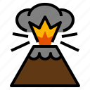 disaster, eruption, lava, nature, volcano icon