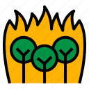 disaster, fire, forest, nature, widefire icon
