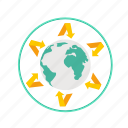 alert, eco, effect, environment, global warming, greenhouse, world icon
