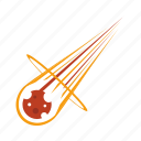 apocalypse, asteroid, attack, catastrophe, disaster, environment, meteor icon