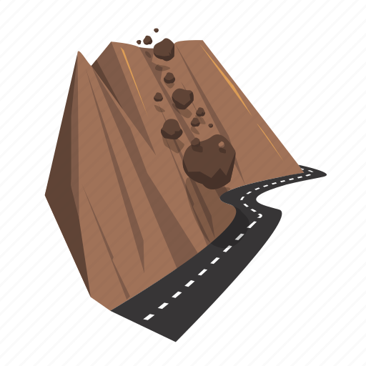 avalanche, disaster, fall, nature, rock, rock avalanche, rockfall icon