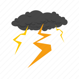 cloud, cloudy, disaster, lightning, rain, storm, thunder icon