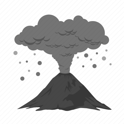 ash, ash cloud, clouds, disaster, pollution, smoke, volcanic icon