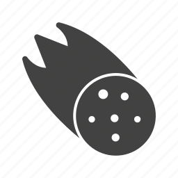 asteroid, disaster, dust, effect, meteorite, sparkle, star icon