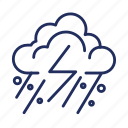 cloud, element, hail, snow, storm, weather icon