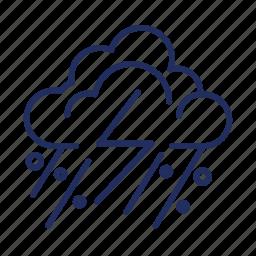 cloud, element, hail, snow, storm, weather icon