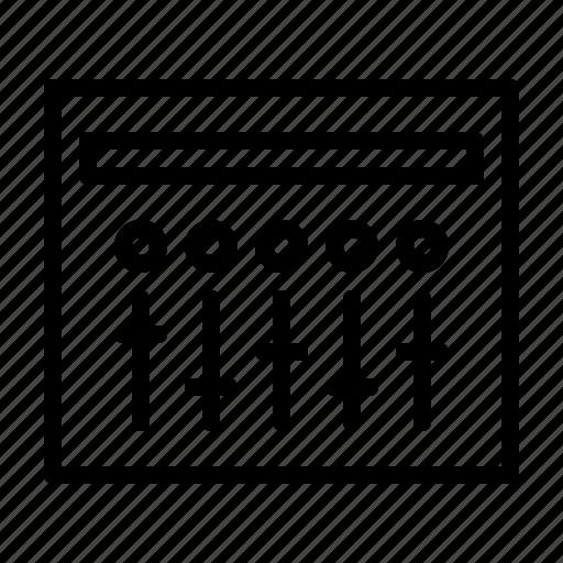 club, dj, mixer, multichanel, music, party icon
