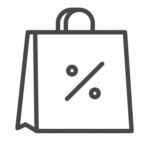 bag, cheap, discount, percent, promotion, sale, shopping icon