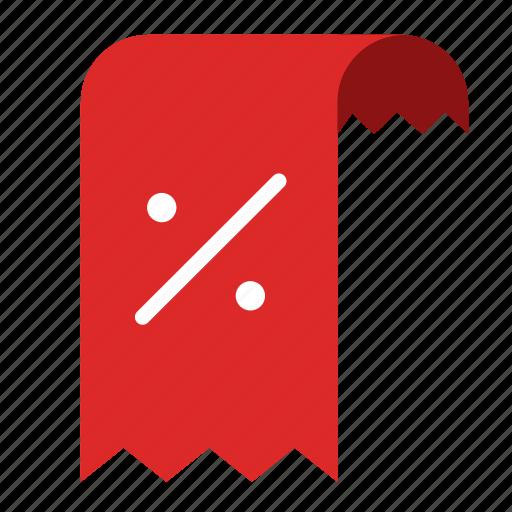 discount price promotiom receipt sale tax icon