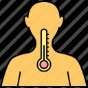body temperature, fever, heat intolerance, high temp, overheating, summer fever