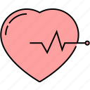 heart beat, pulsation, ecg, beat rate, pulse rate, lifeline, arrhythmia icon