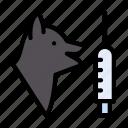 dogbit, dose, injection, medical, syringe