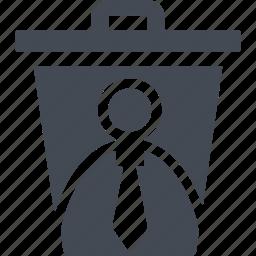 delete, dismissal, remove, trash, trash can icon