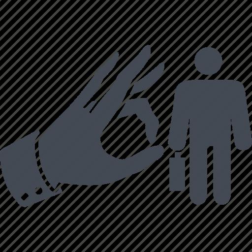 discrimination, dismissal, ouster, sacking icon