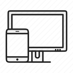 adaptive, device, display, monitor, responsive, tablet icon