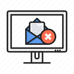 delete, email, letter, mail, message, spam, trash icon