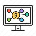 business, dollar, financial, hierarchy, money icon