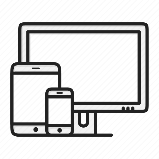 adaptive, device, monitor, phone, responsive, tablet icon