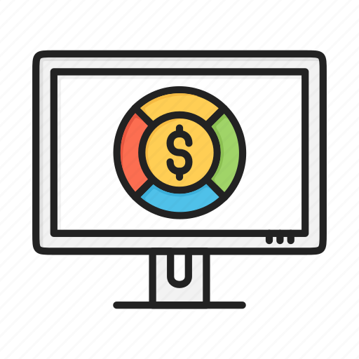 business, chart, dollar, finance, graph, pie icon