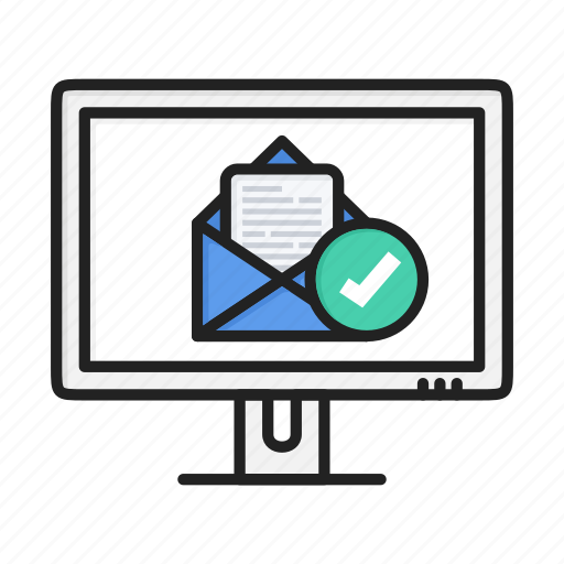 accept, email, letter, mail, message, read, tick icon