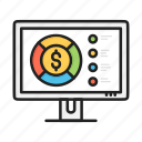 business, chart, circular, dollar, finance, graph, pie icon