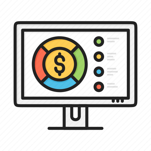 business, chart, circular, dollar, finance, graph, pie icon
