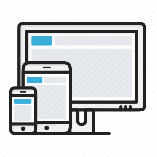 adaptive, device, monitor, phone, responsive, website icon
