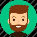 man, avatar, face, male, caucasian, beard, people
