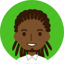 man, avatar, face, male, black, dreadlocks, african american