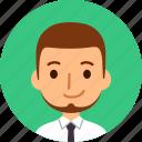 man, avatar, face, male, caucasian, beard, profile