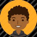 man, avatar, face, male, black, boy, people