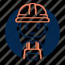 avatar, diversity, engineer, female, girl, people, profession icon